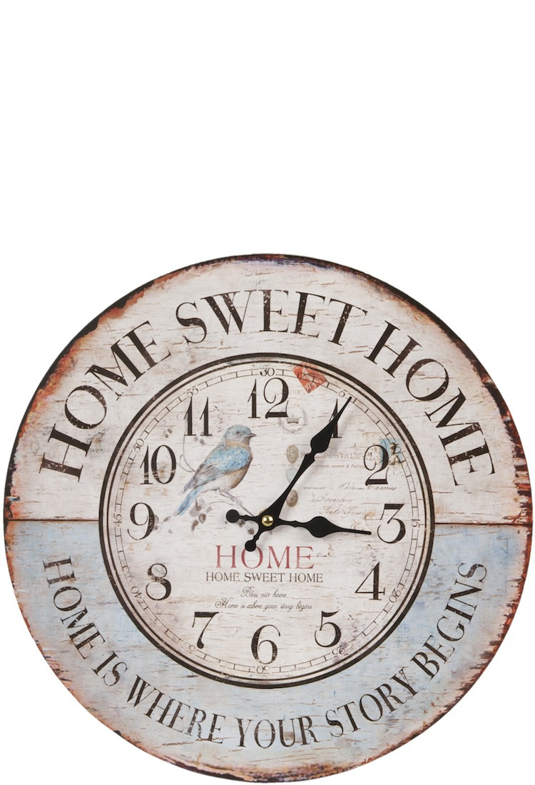 Uhr Home Sweet Home