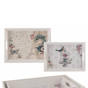Tablett Shabbychic 2er Set